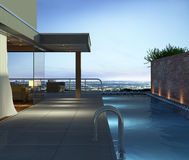 Apartment with pool. And beautiful view over the city at night