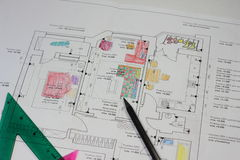 Apartment project in the drawings of the child Royalty Free Stock Photo