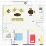 Apartment projection Royalty Free Stock Photos