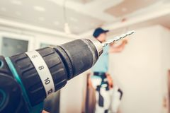 Apartment Remodeling Tools Stock Image