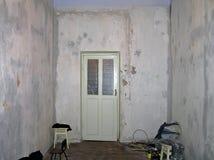 Apartment before repair stock photography