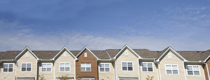Apartment roofline Stock Images