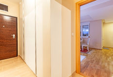 Apartment rooms. Rooms of a modern apartment, new with simple furniture Royalty Free Stock Photography
