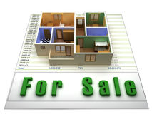 Apartment for sale Stock Photography