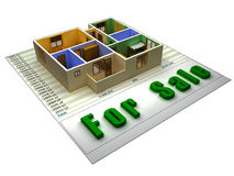 Apartment for sale Royalty Free Stock Photo