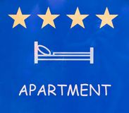 Apartment sign Stock Image