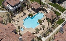Apartment Swimming Pool Stock Photo