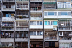 Apartment, Taiwan. This image shows a dense Apartment Building in  Taiwan Royalty Free Stock Photography