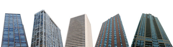 Apartment towers. On white background Royalty Free Stock Image