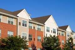 Apartment Townhouses Stock Photography