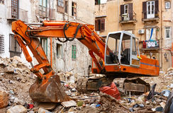 Apartment with  view on scrap heap Stock Image