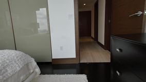 Apartment walkthrough with steadicam stock video