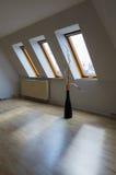 Apartment - white room. Urban apartment - white room with three windows Royalty Free Stock Photo