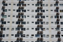 Apartment windows and balconies viewe. Buildings pattern photo :  Apartment windows and balconies viewed Royalty Free Stock Photo