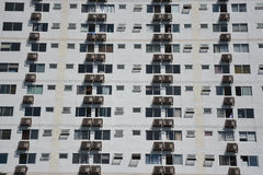 Apartment windows and balconies viewed. Buildings pattern photo :  Apartment windows and balconies viewed Stock Photography