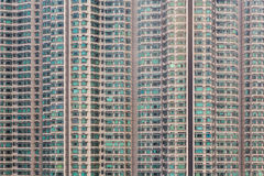 Apartment windows block Stock Photography