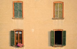 Apartment windows Royalty Free Stock Photography