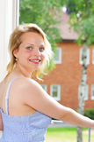Apartment woman Royalty Free Stock Image