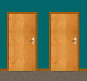 Apartment wooden door Royalty Free Stock Images