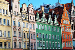 Apartment in Wroclaw, Poland. Facades of old houses, Wroclaw`s apartment Stock Image
