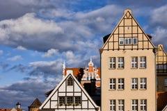Apartmenthäuser in Gdansk lizenzfreie stockfotografie