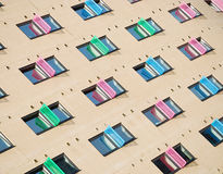 Apartments. With colorful windows in Leeds, Great Britain stock photos