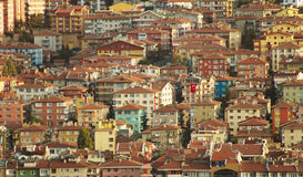 Apartments. In the old town of a city there lies a thousand of apartments, filled with joyful people Royalty Free Stock Photography