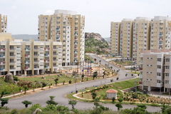 Apartments. Apartment blocks in a township,india Stock Photo