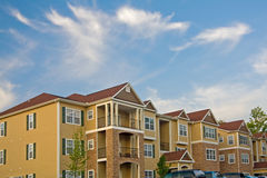 Apartments. Modern apartment buildings with sky for copy space Stock Photography