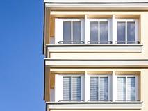 Apartments. Modern facade at a plattenbau near rome Stock Photography