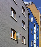 Apartments. Converted wharf buildings in london england Stock Photo