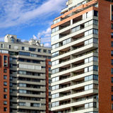 Apartments. A group of modern urban apartments royalty free stock photos