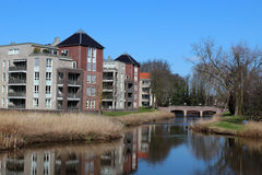 Apartments Along a Waterway Stock Photography
