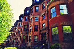Apartments, Architecture, Boston Royalty Free Stock Photography