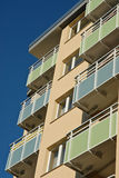 Apartments and balconies Stock Photos