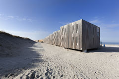 Apartments on the beach of Hoek van Holland. In the Netherlands Royalty Free Stock Image