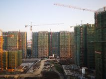 The apartments being built in wuhu. Close to shenshan garden royalty free stock photo