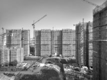 The apartments being built in wuhu. Close to shenshan garden royalty free stock images