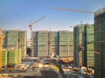 The apartments being built in wuhu. Close to shenshan garden stock image