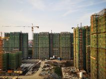 The apartments being built in wuhu. Close to shenshan garden stock photography