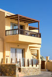 Apartments with big balcony in warm country Royalty Free Stock Image