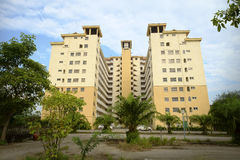 Apartments block homestay resort. Selangor, Malaysia - May 28, 2017: Pantai Indah apartments block cum homestay resort situated walking distance to beach Royalty Free Stock Photography