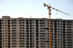 Apartments building construction Stock Image