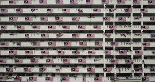 Apartments building`s facade in Penang stock images