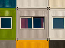 Apartments in cargo containers. In many colors Royalty Free Stock Images