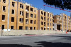 Apartments construction site Royalty Free Stock Photography