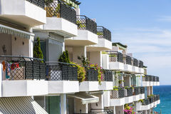 Apartments in the Costa del Sol, Spain Royalty Free Stock Photo