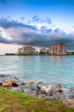 Apartments in Fisher Island Royalty Free Stock Photos