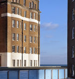 Apartments flats sea garage england Royalty Free Stock Photo