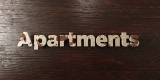 Apartments - grungy wooden headline on Maple  - 3D rendered royalty free stock image Royalty Free Stock Images